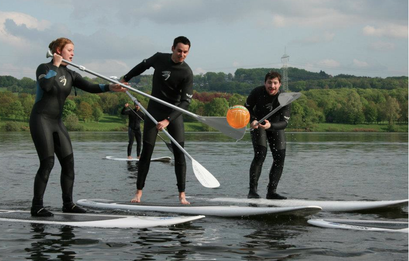 stand up paddle surf polterabend